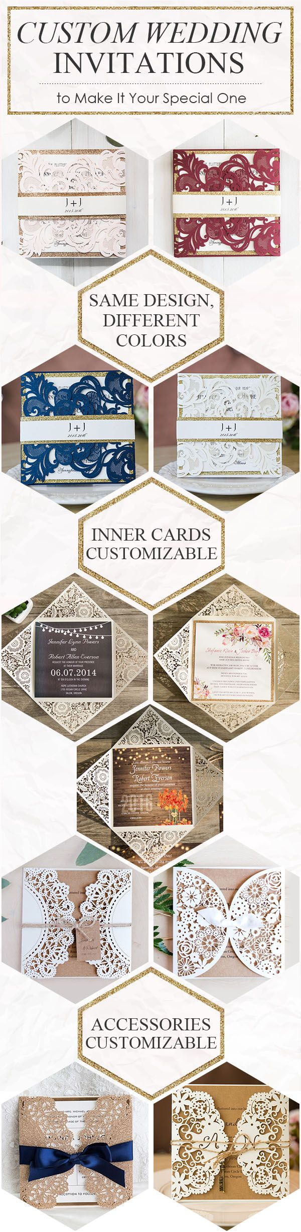 inexpensive rustic laser cut wedding invitation with