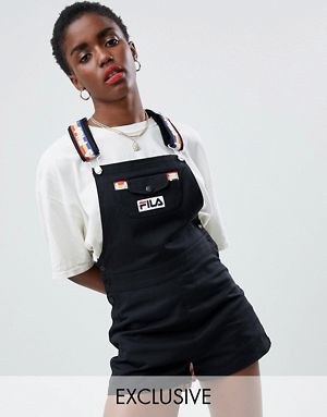 eb3e94d0fff3 Fila Denim Overalls With Rainbow Tape Straps