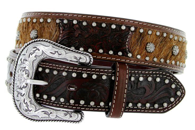 Roper Tooled Painted Belt