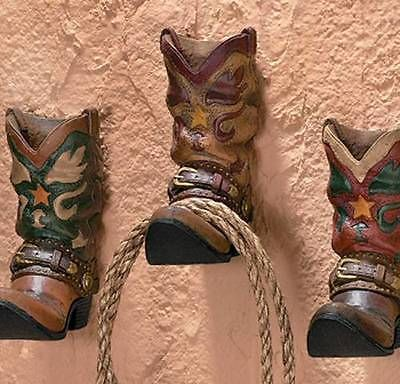 Set Of 3 Cowboy Boot Western Wall Hooks Wall Decor New Kitchen Room