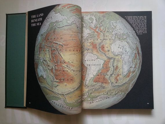 Hey, I found this really awesome Etsy listing at https://www.etsy.com/il-en/listing/204833308/1960s-big-vintage-atlas-book-world-atlas