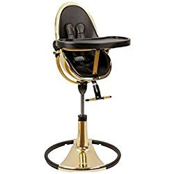 Bloom Fresco Chrome Contemporary Baby Highchair Special Edition - Yellow Gold w/ Black Seatpad