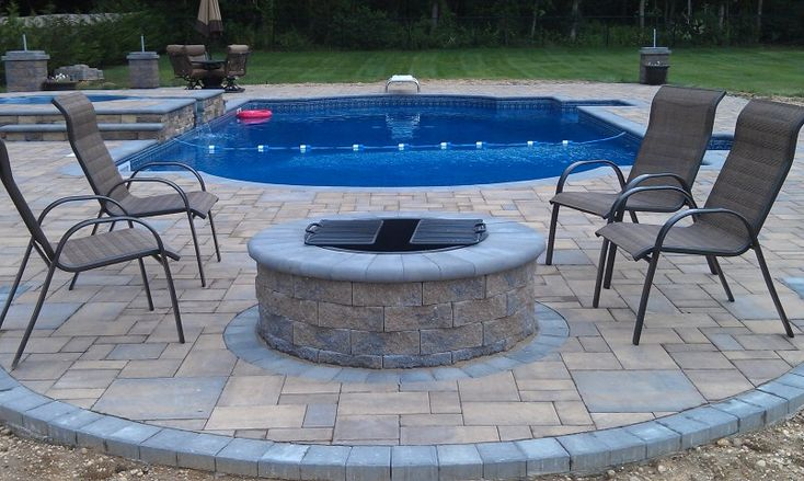 This Fire Pit Is Cambridge Paversu0027 Wood Burning Round Fire Pit Kit. Itu0027s  Perfect For Any Backyard Pool Patio. | Cambridge Fire Tables U0026 Pits |  Pinterest ...