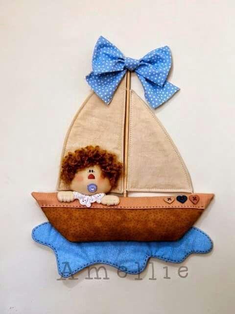 Colgante: Barco, mar, bebé