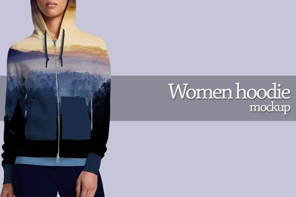 Women hoodie mockup by Gumacreative on @creativemarket