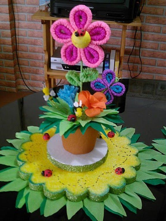 3334 best images about diy box on pinterest goody bags - Manualidades centros de mesa ...