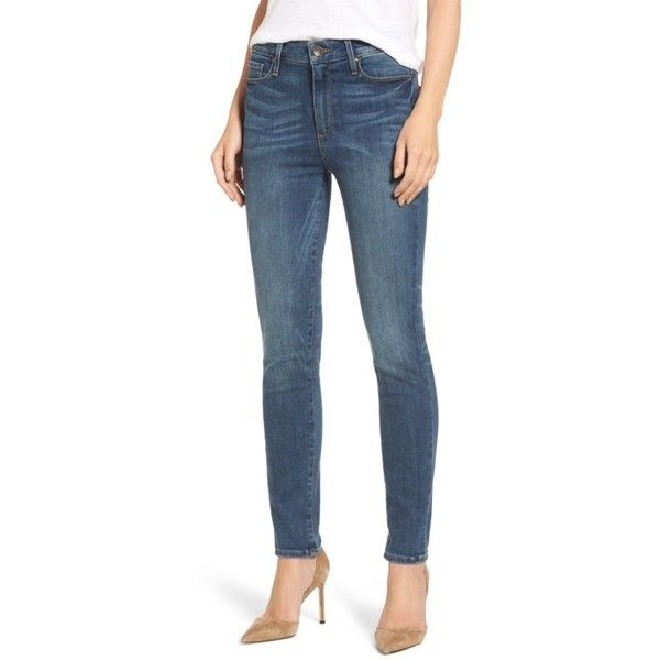 Women's Paige Transcend - Hoxton High Waist Skinny Jeans ($215) ❤ liked on Polyvore featuring jeans, westminster, high rise skinny jeans, paige denim jeans, high-waisted jeans, paige denim skinny jeans and skinny fit denim jeans