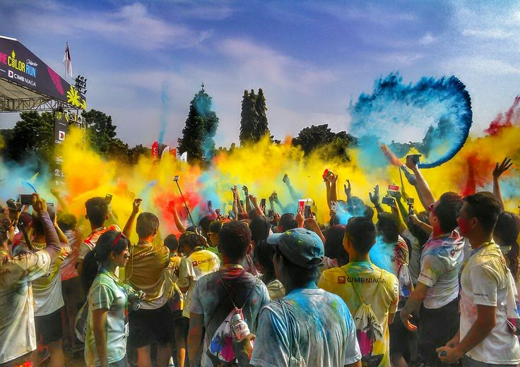 Colorful powder on ColorRun 2016 in Jakarta
