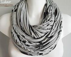 Bufanda de camiseta T, t camisa infinito bufanda, círculo de la bufanda, bufanda de la tela, bufanda de la tela de algodón