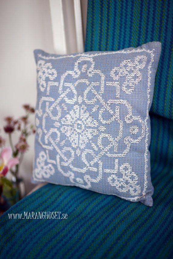 Selma Pillow  Swedish Vintage Handmade  by Maranghouse on Etsy, $46.00