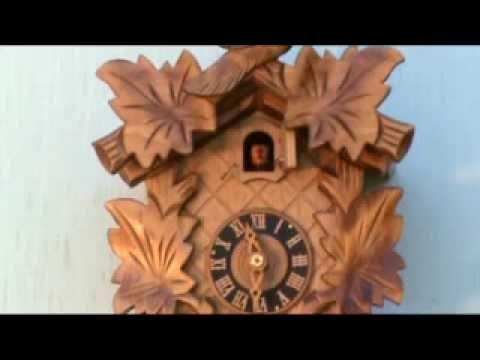 Cuckoo Clock, Rustic Oak, Dold Uhren Model #1-1-4