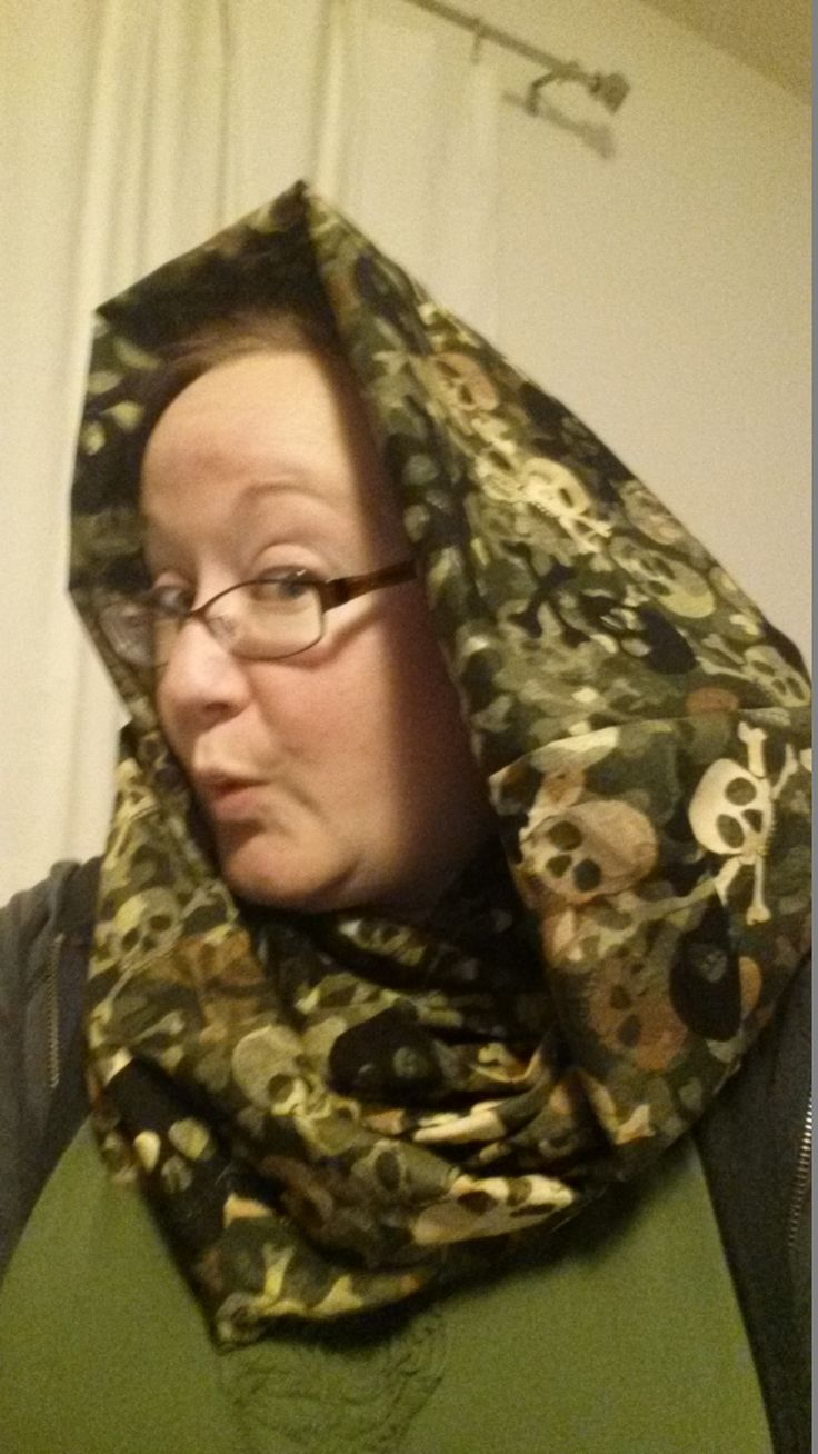 Camouflage Skull Cotton Infinity Scarf (made for custom order)