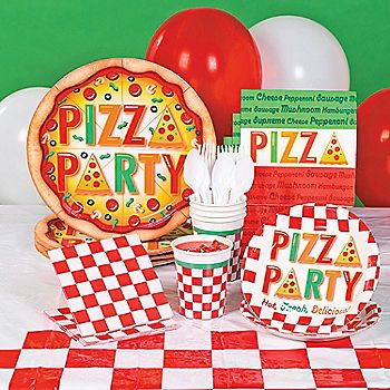 Pizza Party Party Supplies Party Pinterest