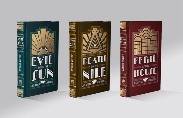 Agatha Christie Book Covers by Katy Olsen, via Behance