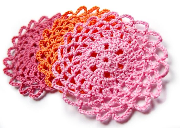 Lacy Coaster/Doily Pattern:free pattern Crochet Flowers ...
