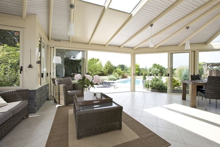 #veranda #conceptalu gamme #ARMONIA - #salon #salleamanger #jardin #lumisol