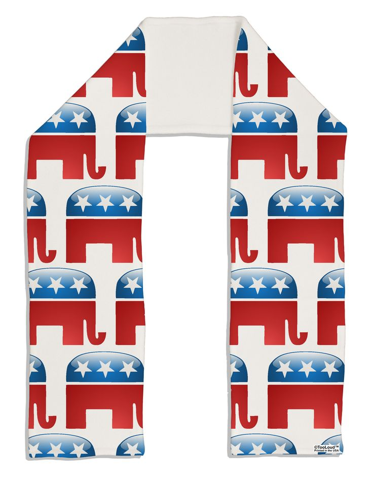 "TooLoud Republican Symbol All Over Adult Fleece 64"" Scarf All Over Print"