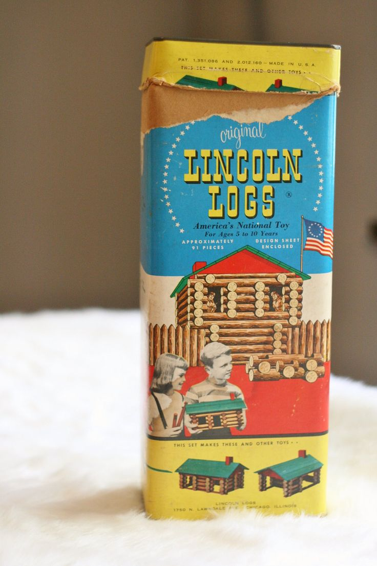 Vintage Lincoln Logs 1950s Complete Set In Original Box