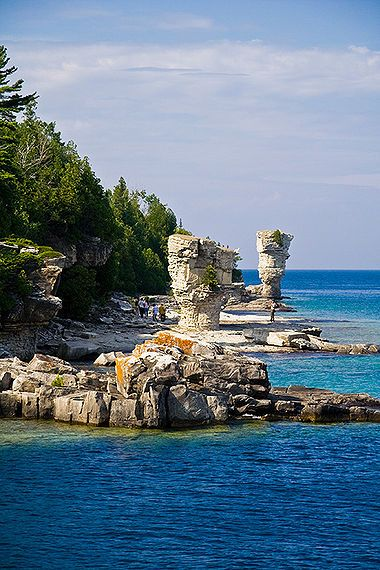 Flower Pot Island, Tobermory, Ontario I stayed in Tobermory and I took the Georgian Bay Boat Tour but it was too cold to stay on Flower Pot Island.  Next time I will conquer the Island!