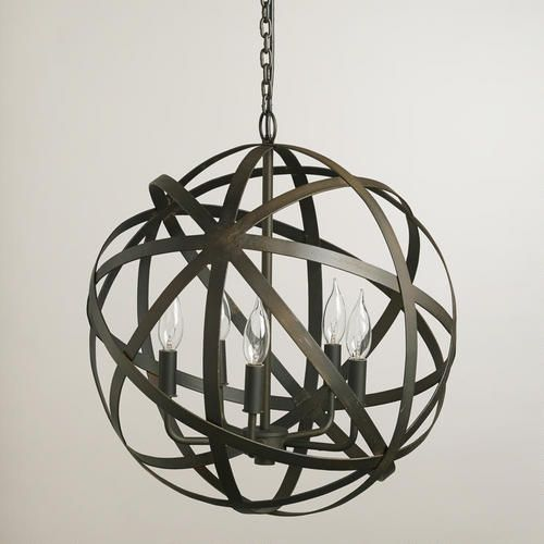 Metal Orb Chandeliers are everywhere but are quite expensive but this version from World Market is just $150!