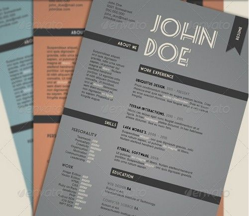 artist+professional+resume+examples | 25 Modern and Professional Resume Templates