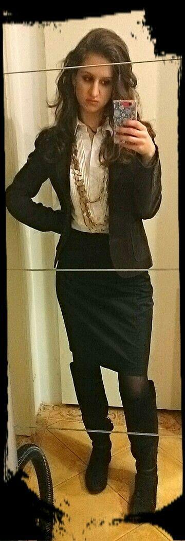 #jacket #zara #skirt #oasis #boots #loriblu #officestyle