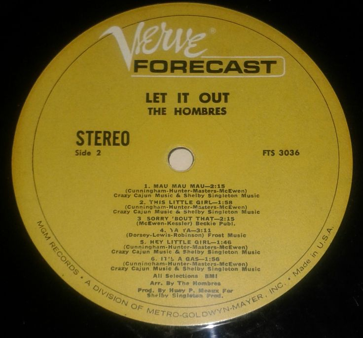 The hombres Verve forecast stereo Label