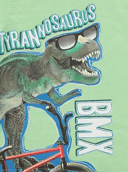Dinosaur BMX T-shirt, read reviews and buy online at George. Shop from our…