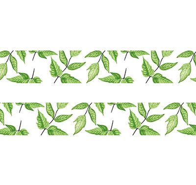 Green Leaf  Washi Tape Scrapbooking Tools Cute Decorative Cinta Adhesiva Decorativa Kawaii Japanese Stationery Colored Tape
