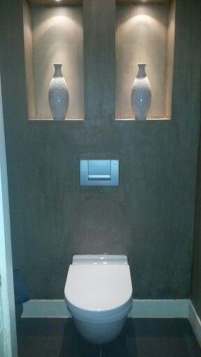 Toilet met nis, mooi met die verlichting