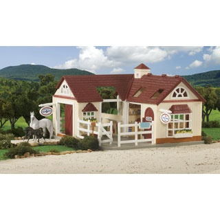 $39.99 - When animals need care, there's only one place to take them…Breyer's Stablemates Deluxe Animal Hospital!• This state-of-the-art healing center includes everything that the aspiring veterinarian needs to keep animals – both large and small - healthy and happy. • There's a small animal emergency clinic, a large animal care center with exam rooms and even a grooming center for routine preventative care to keep animals at their peak.• With a small paddock, sliding doors...