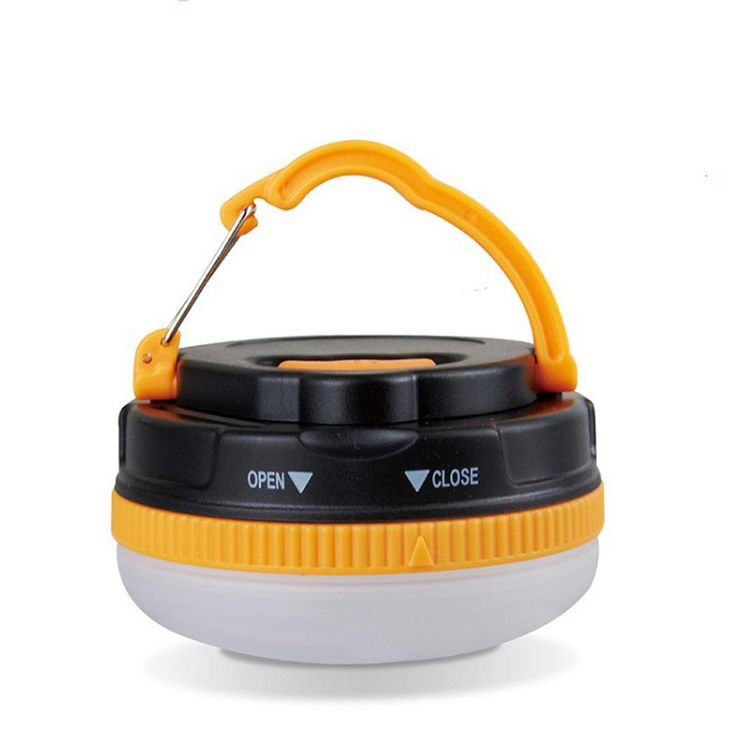 1PC Portable Outdoor Camping Lantern Hiking Tent LED Light Campsite Hanging Lamp Emergency with Handle - 10 MINUS
