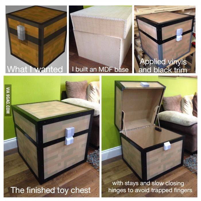 Minecraft Bedroom Furniture Real Life real life minecraft chest | stuff to build | pinterest | real life