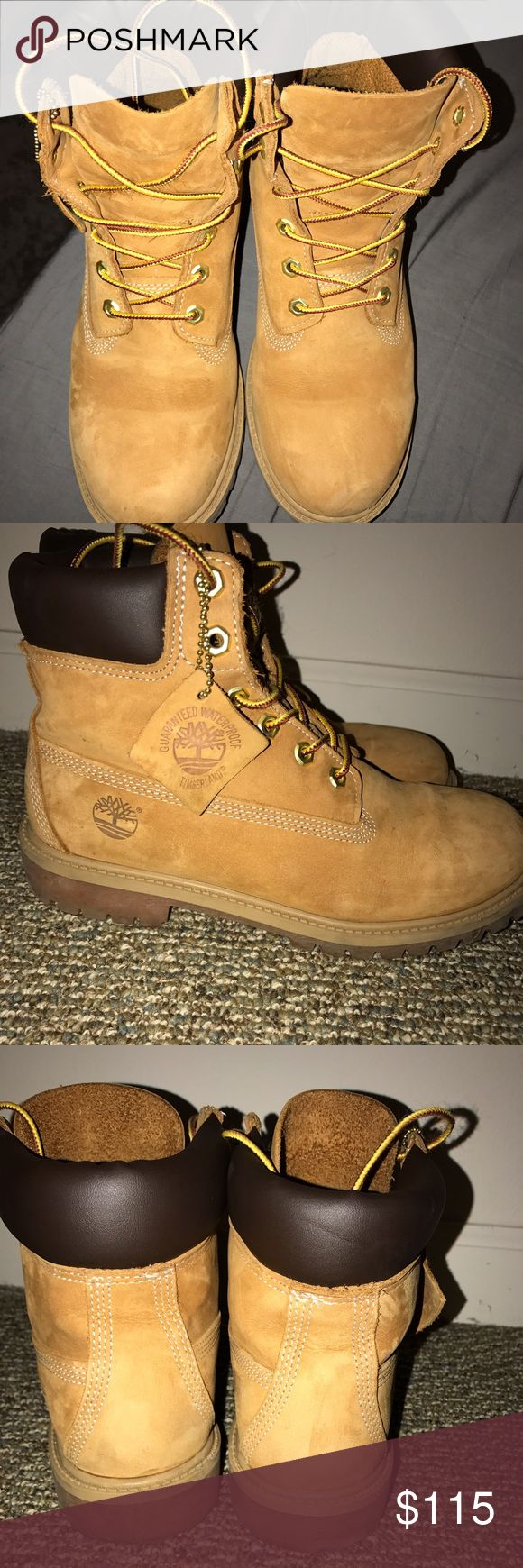 Women's Timberlands! Basically new! Women's 6 inch premium water proof boots. Worn less then 3X. Bought straight from Timberland website. Great condition! Timberland Shoes Winter & Rain Boots
