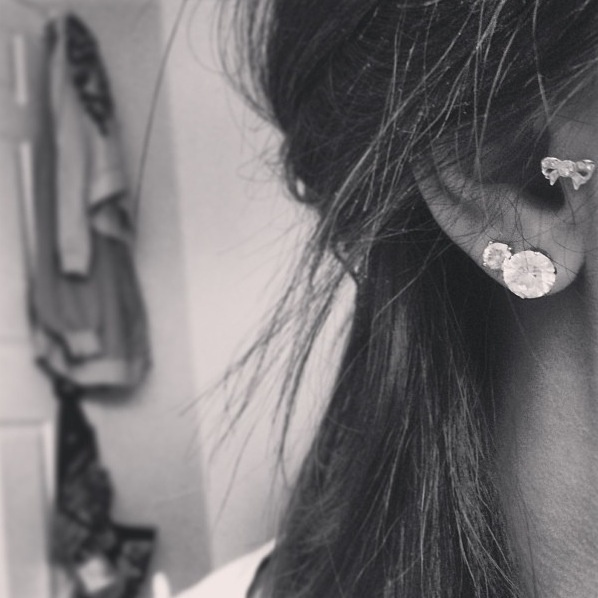 This is excatly what I want, a double piercing  that little part of my ear pierced! Its soooo adorable! I love it!