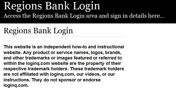 Secure Login | Access the Regions Bank login here. Secure user login to Regions Bank. To access the secure area for Regions Bank you must proceed to the login page.
