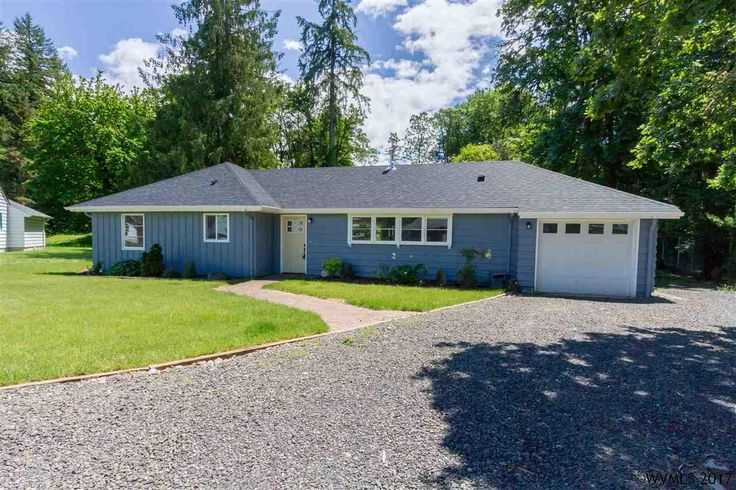 This completely remodeled 1950's home w/a nice open floor plan has stained concrete countertops, black walnut island, tile & hardwood floors & new SS appl. Nice lrg MBR w/sliding doors that lead to a patio for entertaining & ready for your gas BBQ. Plus rm for RV parking located on the side of the house. All on a nice .39± acre lot close to schools, stores, & the river. New Comp roof. 40 min to Salem.