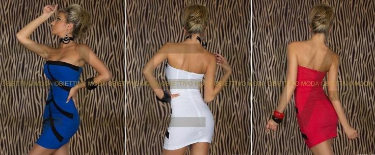 € 39,00 Mini Abito Dancewear Sexy.  Favoloso mini abito sexy colore blu con strisce nere, spalline aperte, coppe imbottite e zip sulla schiena. Veste molto morbido, particolarmente elegante e sensuale! Molto elegante, per la donna manager o semplicemente per le serate in cui è d'obbligo l'eleganza!  Composizioni:   - Cotone: 65%,   - Spandex: 3%,  - Poliammide: 32%.  http://www.specialprezzi.com/department/33/Sexy-abbigliamento-ed-accessori.html?oid=1016_6