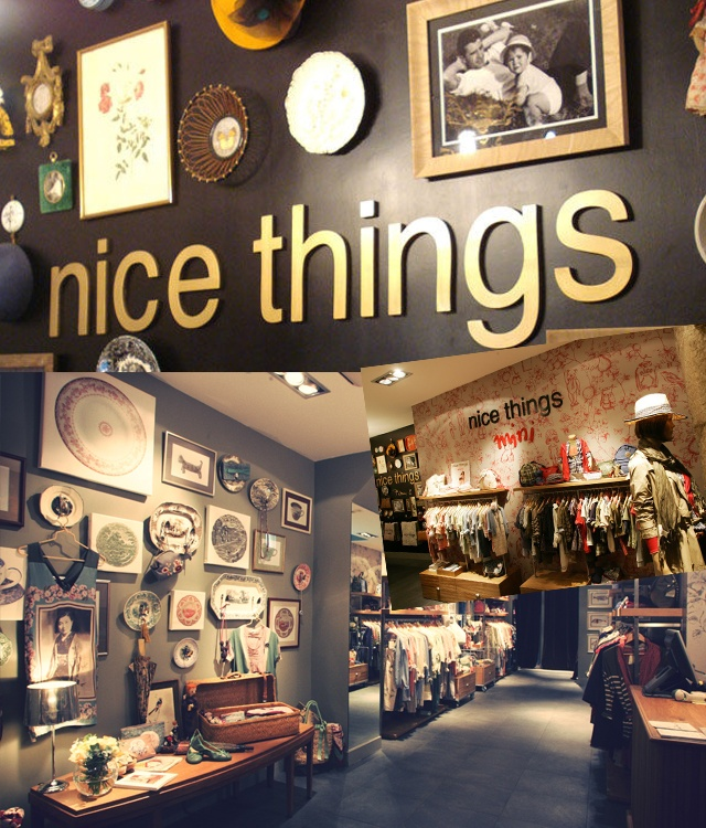 NICE THINGS Portal del Angel, 6 Barri Gotic Barcelona. Women cloths 100% original with a vintage touch and for all ages.