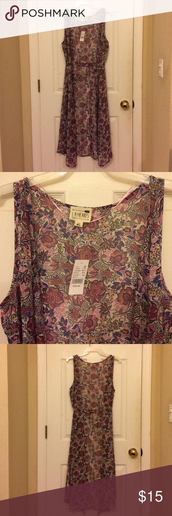 Women's Floral Vest size M/L Women's Floral Vest Duster size M/L L.A Hearts Jackets & Coats Vests