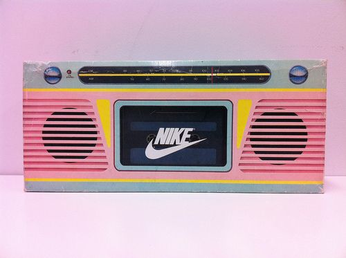 Vintage Sneaker Speakers : Nike Boombox Shoebox