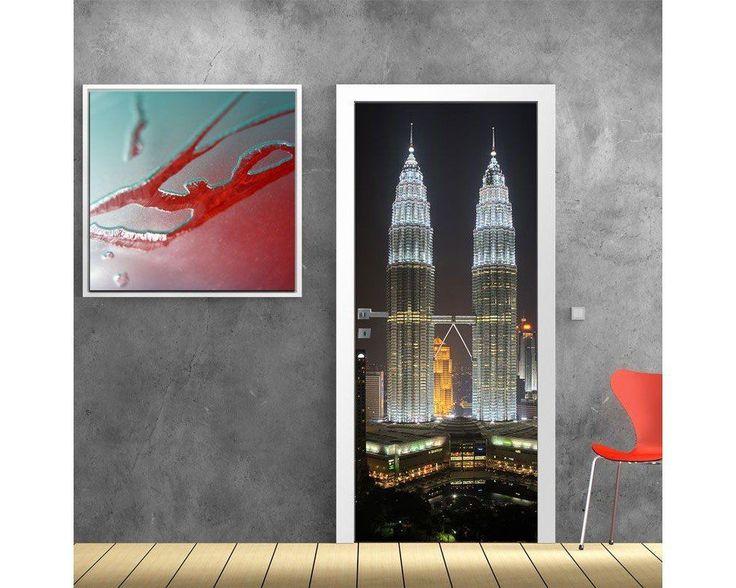Kuala lumpur towers, αυτοκόλλητο πόρτας , δείτε το!