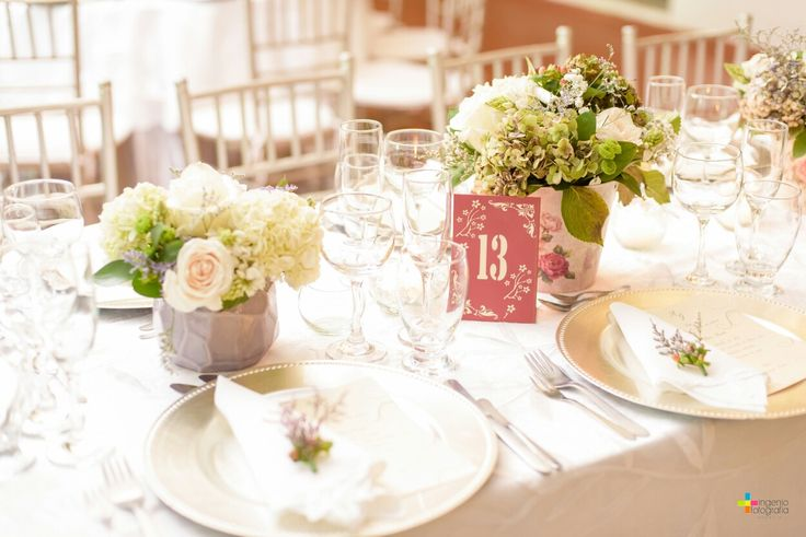 Elegant center pieces wedding