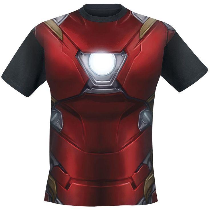 "Classica T-Shirt uomo nera ""Iron Man Costume"" di Captain America Civil War."