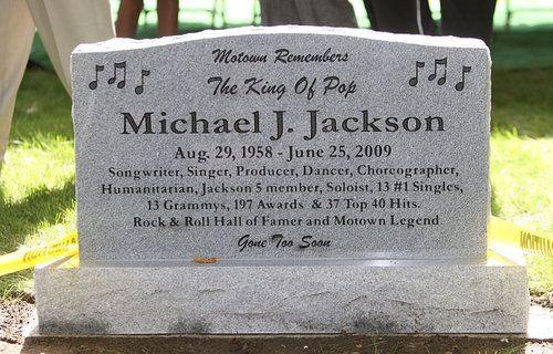 Michael Jackson Gravestone Image Detail for - THE...