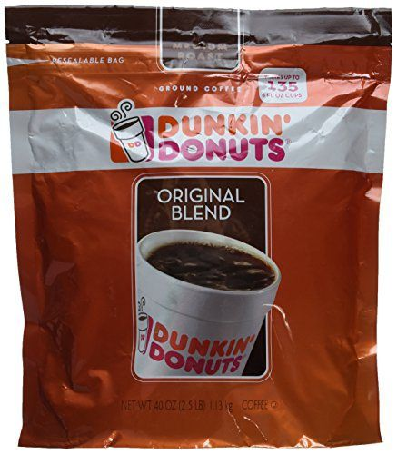 Dunkin' Donuts Original Blend Coffee 40oz - http://teacoffeestore.com/dunkin-donuts-original-blend-coffee-40oz/