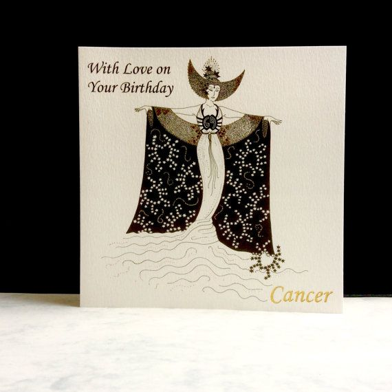 Birthday Card Cancer Sign by ImagePlusCards on Etsy