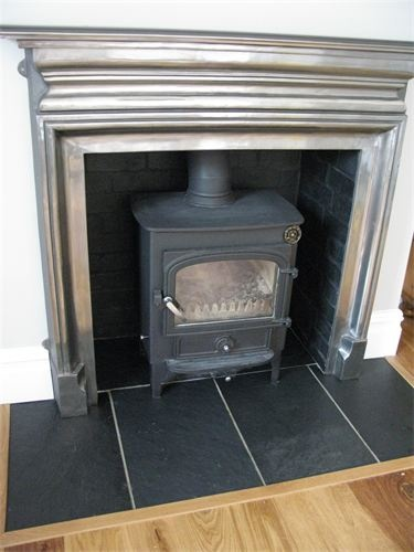 Clearview Vision 500 Wood Stove Installation On Black