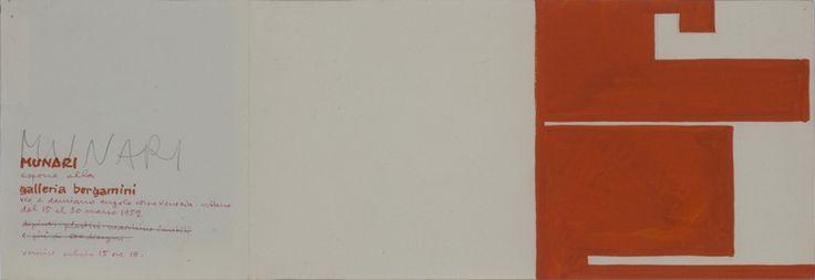 Bruno Munari, Progetto grafico  per invito, 1952