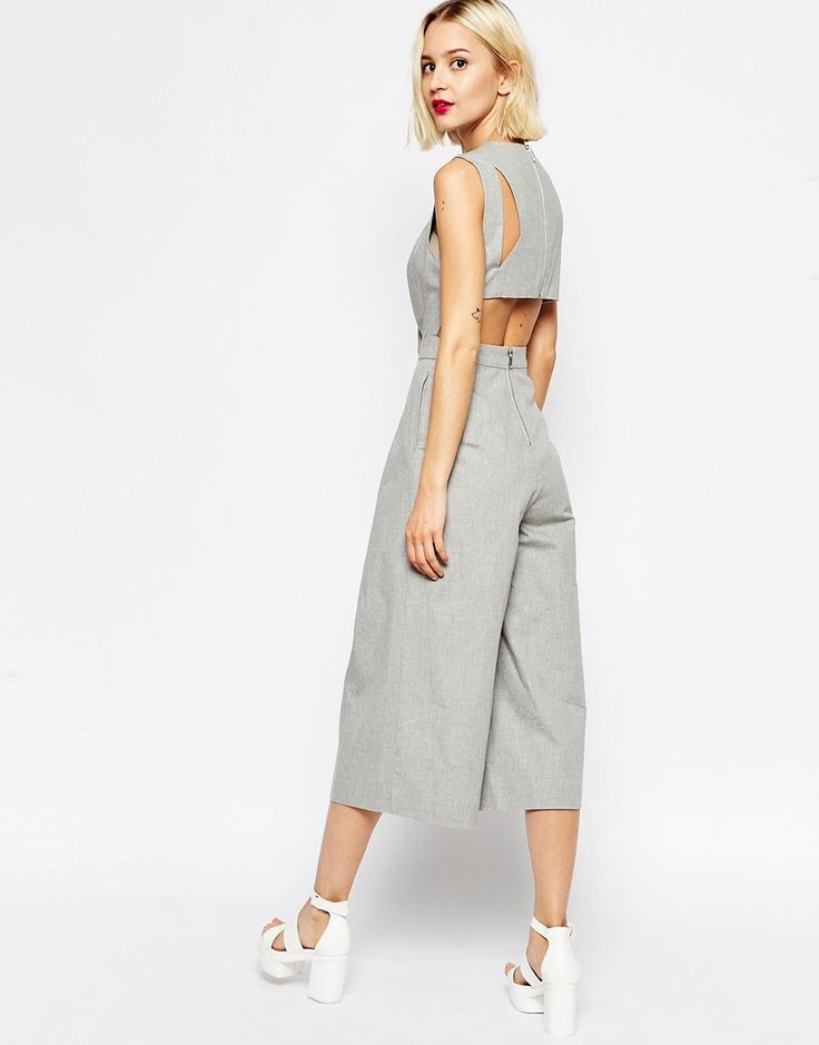 ASOS Awkward Length Jumpsuit With Cut Out Back